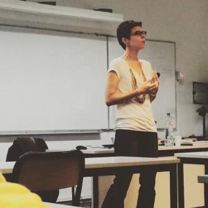 Faculty conducting class at HEC Belgium