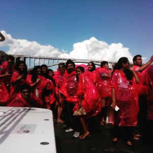 Students and faculty at the Niagara Falls